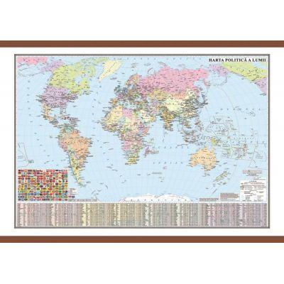 Harta politica a lumii cu sipci 700x500 mm (GHLP70)