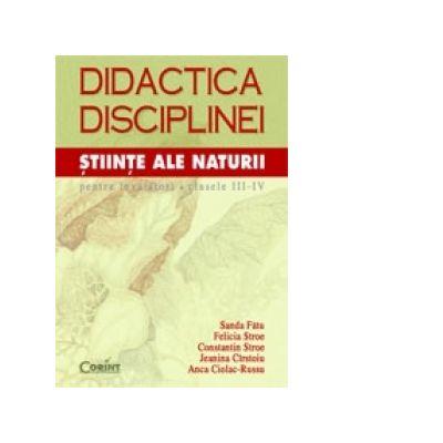 DIDACTICA DISCIPLINEI STIINTE ALE NATURII