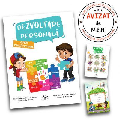 """Dezvoltare personala, clasa pregatitoare + carte cadou """"Invatam altfel"""" + caiet tip I oferit gratuit"""