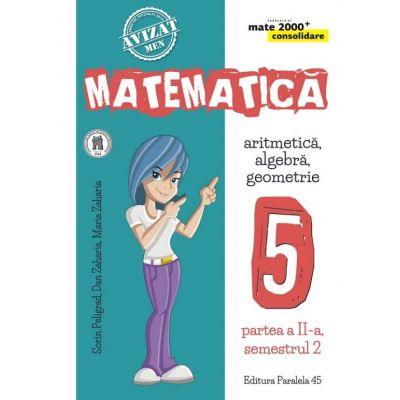 Matematica 2000 Consolidare. Caiet de lucru pentru Clasa a V-a. Semestrul II Aritmetica, Algebra, Geometrie