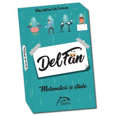 DelFan-Matematica. Joc cu 64 de cartonase ce contine 4 arii super distractive: Cultura generala, mima, descriere verbala si desen - Nicoleta Lili Ciocan
