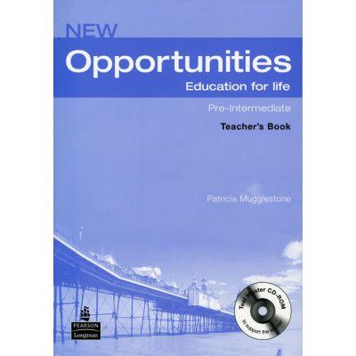 New Opportunities Pre-Intermediate Teachers Book with Test - Patricia Mugglestone