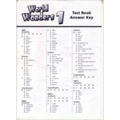 WORLD WONDERS 1 TEST BOOK ANSWER KEY
