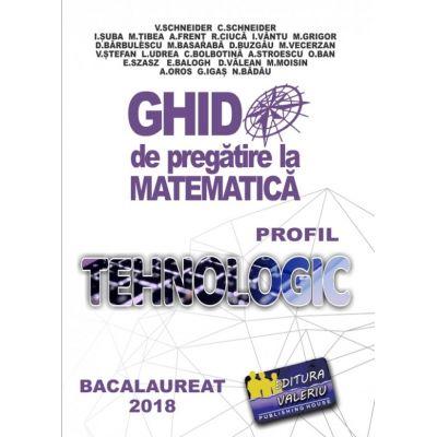 Bacalaureat 2019 - Ghid de pregatire la Matematica. Profil Tehnologic - Virgiliu Schneider