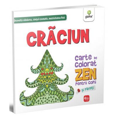 Carte de colorat Zen pentru copii si parinti. Craciun