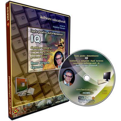 UnivTest Evaluator IQ Home. Autoevaluare, utilizare individuala. CD