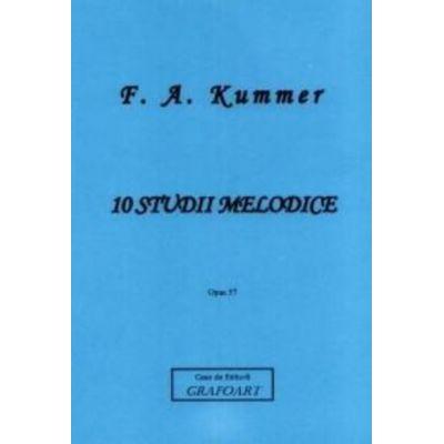 10 studii melodice. Violoncel - Friedrich August Kummer