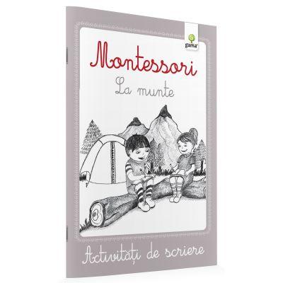 Activitati de scriere Montessori - La munte