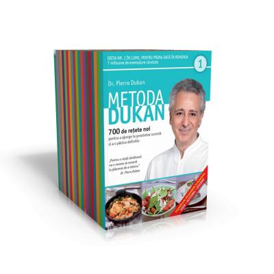 Metoda Dukan (20 carti). 700 de retete noi pentru a ajunge la greutatea corecta si a o pastra definitiv - Pierre Dukan