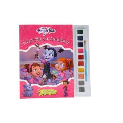 Sa pictam cu Vampirina. Carte de colorat cu pensula si acuarele - Disney
