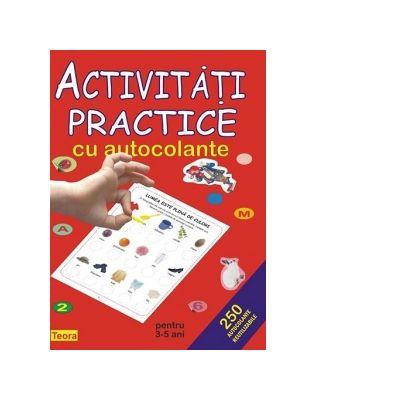 Activitati practice cu autocolante pentru 3-5 ani