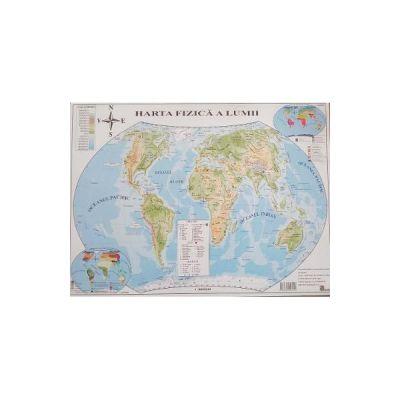 Harta politica a lumii si Harta fizica a lumii