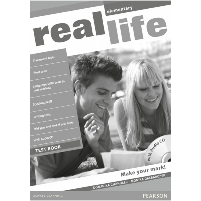 Real Life Global Elementary Test Book and Test Audio CD Pack - Dominika Chandler