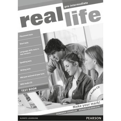 Real Life Global Pre-Intermediate Test Book & Test Audio CD Pack - Dominika Chandler