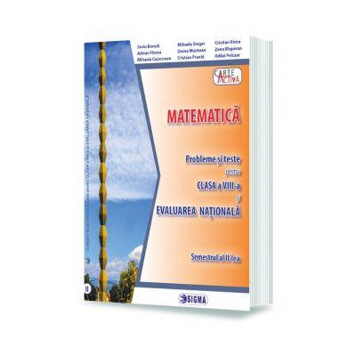 MATEMATICA. Probleme si teste pentru clasa a VIII-a si EVALUAREA NATIONALA. Semestrul al II-lea - Mihaela Singer