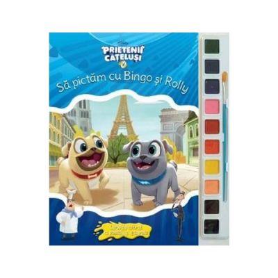 Sa pictam cu Bingo si Rolly. Carte de colorat cu pensula si acuarele - Disney