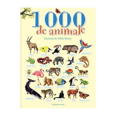 1000 de animale - Ilustratii de Nikki Dyson
