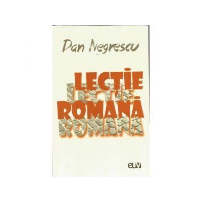 Lectie romana - Dan Negrescu