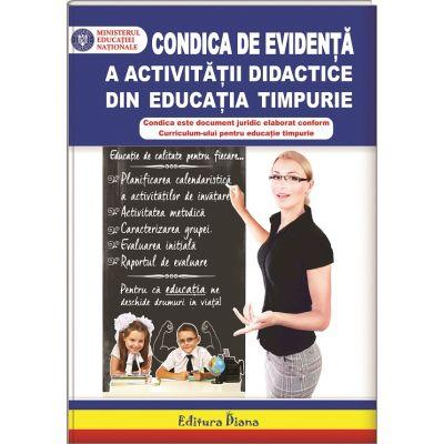 Condica de evidenta a activitatilor didactice din educatia timpurie