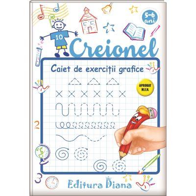 Creionel. Caiet de exerciții grafice 5-6 ani
