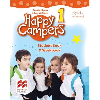 Happy Campers. Student's Book and Workbook, clasa I - Angela Llanas
