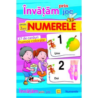 Invatam prin joc numerele + 3 ani. Carti de joc educative