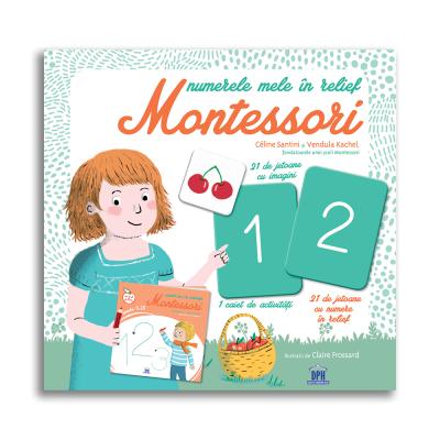 Numerele mele in relief Montessori - Céline Santini, Vendula Kachel