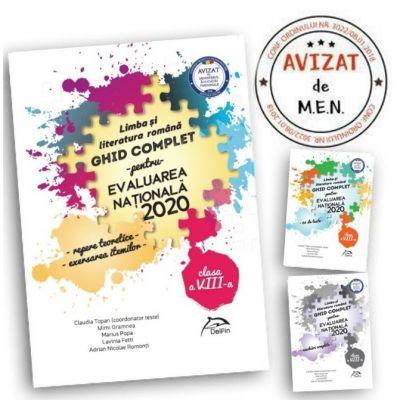 Pachet carti Evaluarea Nationala 2020 Limba si literatura romana - Ghid complet: repere teoretice, 60 de teste, brosura rezolvari complete