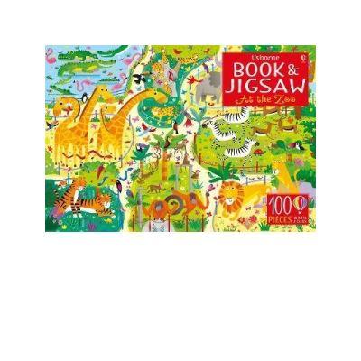 Book & Jigsaw At the Zoo - Kirsteen Robson