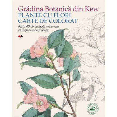 Gradina Botanica din Kew. Plante cu flori. Carte de colorat