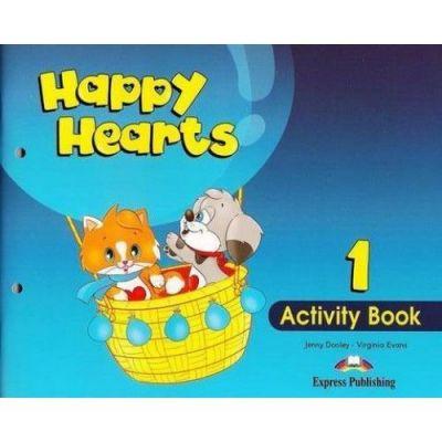Happy Hearts 1, Activity Book, Curs de limba engleza pentru prescolari - Jenny Dooley