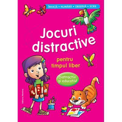 Jocuri distractive pentru timpul liber - Distractiv si educativ. Invata, numara, observa, scrie (Roz)