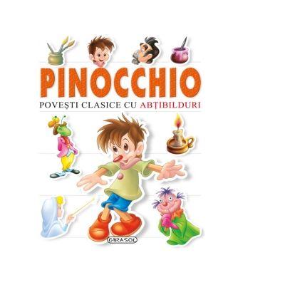 Povesti clasice cu abtibilduri. Pinocchio