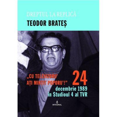 24 decembrie 1989 in Studioul IV al TVR - Teodor Brates