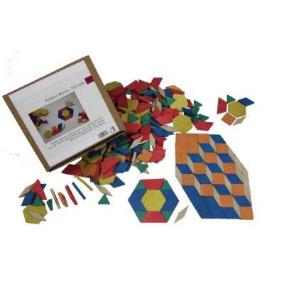 Set Tangram 250 piese - din lemn reciclat