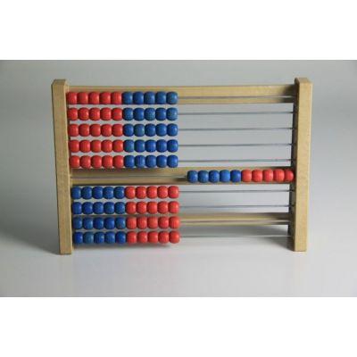 Abac - Instrument pentru copii cu 10 siruri a cate 10 bile colorate (MAW)