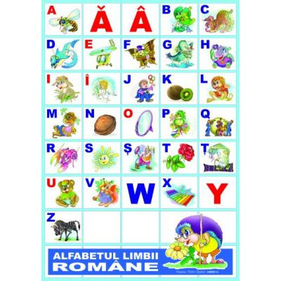 Alfabetul limbii romane - Set 31 planse A3 (CPA1-1)
