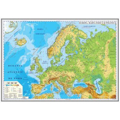 Europa Harta Fizica Si Politica 700x500mm Ghef70 L 74409