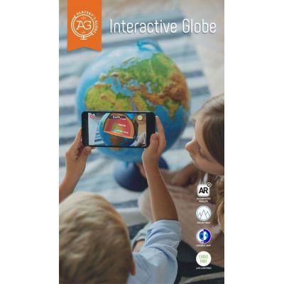 Glob geografic in relief (DUO) cu interactivitate VR (25cm) (GG-INT-25RU)
