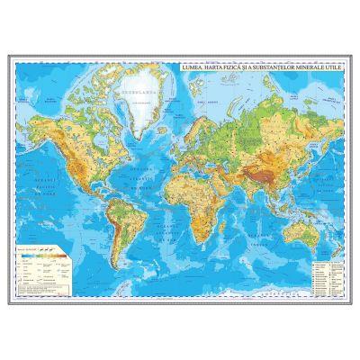 Harta Fizica A Lumii 1600x1200mm Ghlf160 L 74359