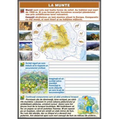 La munte / La cumparaturi (DUO) - Plansa cu 2 teme distincte (CP6)