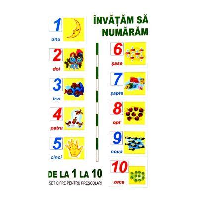 Numerele - set 10 planse A5