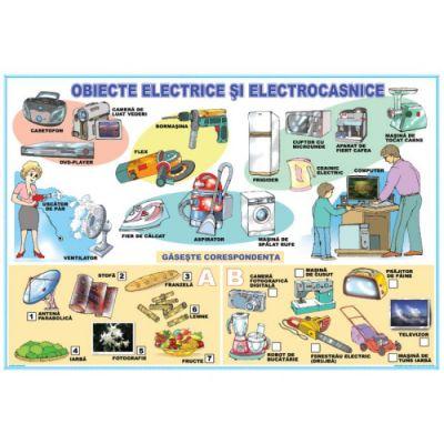 Obiecte electrice si electrocasnice / Fenomene ale naturii - Plansa cu 2 teme distincte