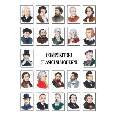 Set portrete - 25 compozitori clasici si moderni (PA1-2)
