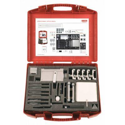 Trusa. Bazele opticii - contine echipamente si dispozitive necesare pentru realizarea experimentelor privind demonstrarea legilor de baza ale opticii geometrice