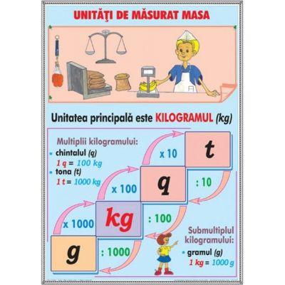 Unitatii de masa / Elemente de geometrie (DUO) - Plansa cu 2 teme distincte
