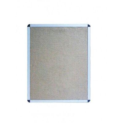 Avizier textil (iuta), cu rama din aluminiu, 1500x1200 mm (AZTIUTA150)