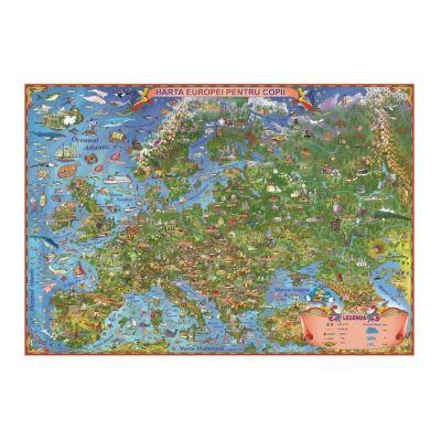 Harta Europei pentru copii 1000x700mm, fara sipci (GHECP100-L)