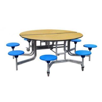 Masa pliabila, mobila, rotunda, pentru copii, pentru 8 persoane (MBC02-27)