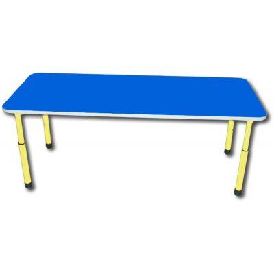 Masa reglabila DREPTUNGHIULARA pentru gradinita cu blat albastru (MBMRCUA17238A)